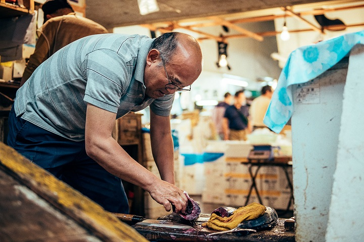 рыбный рынок в Японии-8