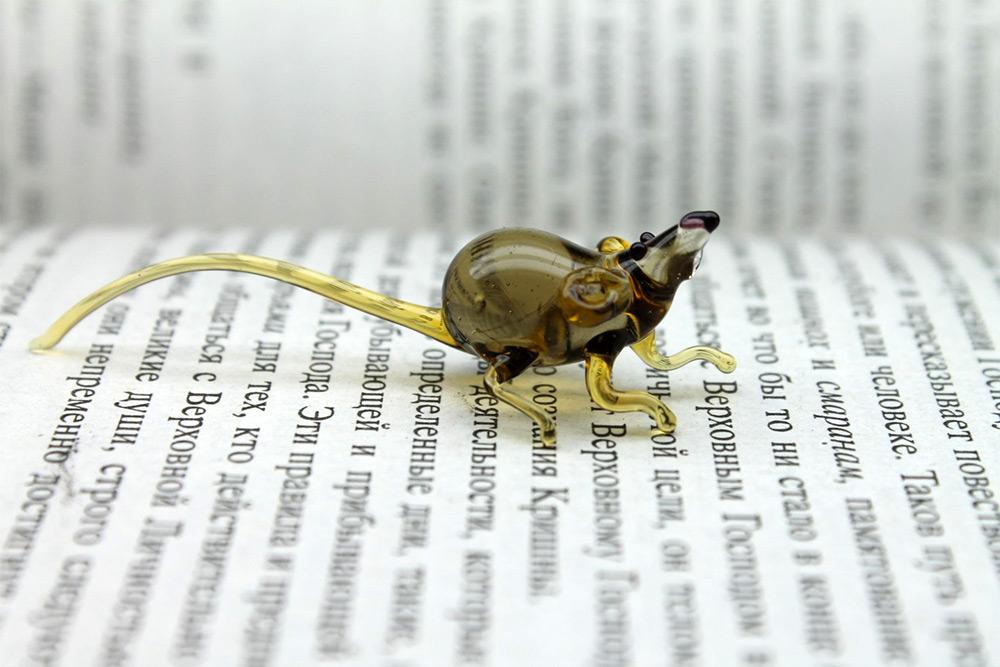 сувениры из стекла, флора и фауна, животные-9