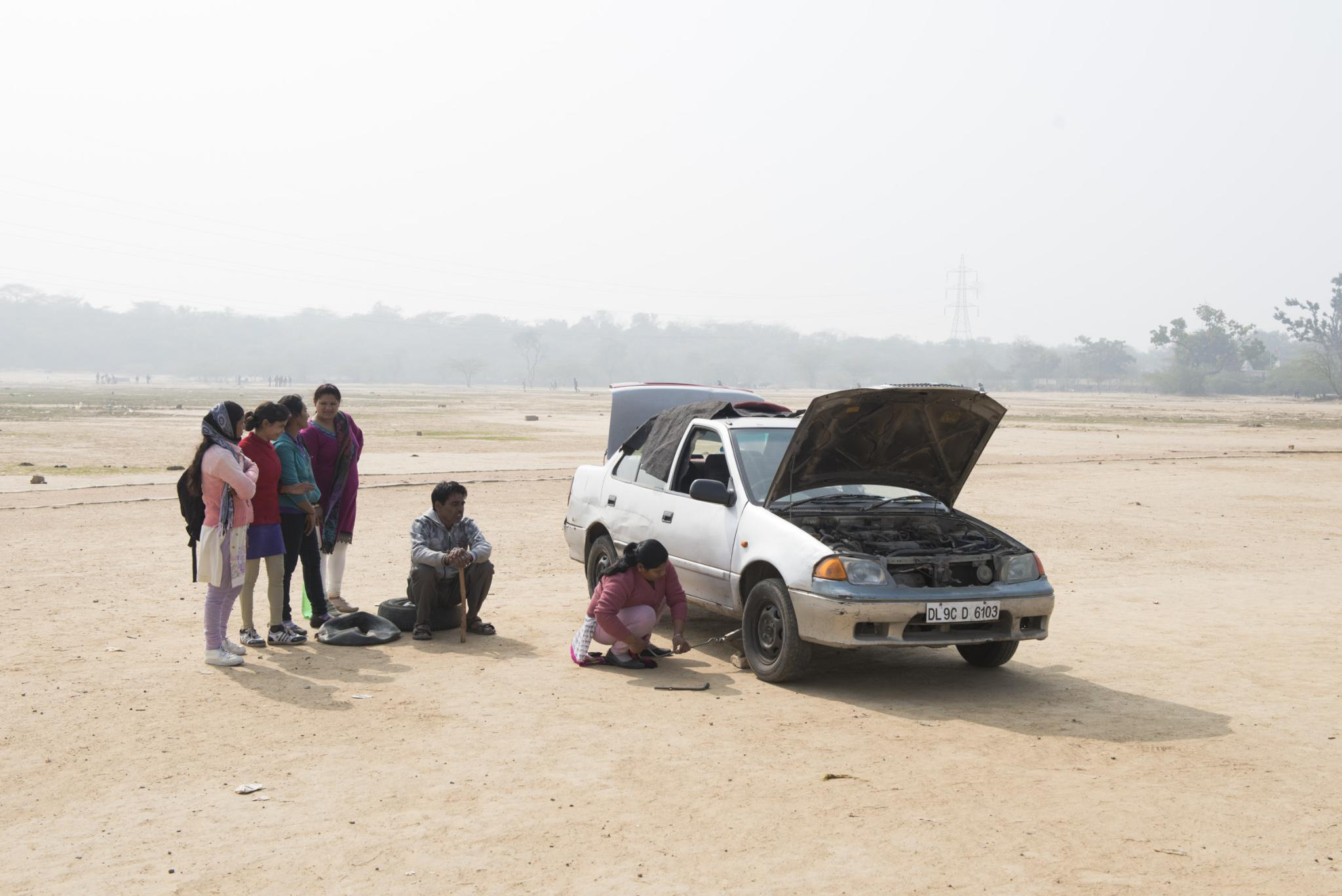женщина-водитель в Индии-6