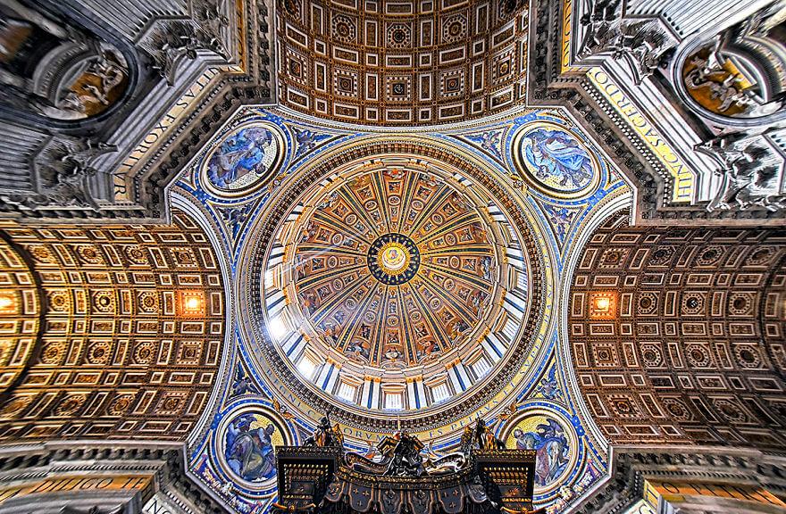Красота потолков церквей Рима. Фото № 10