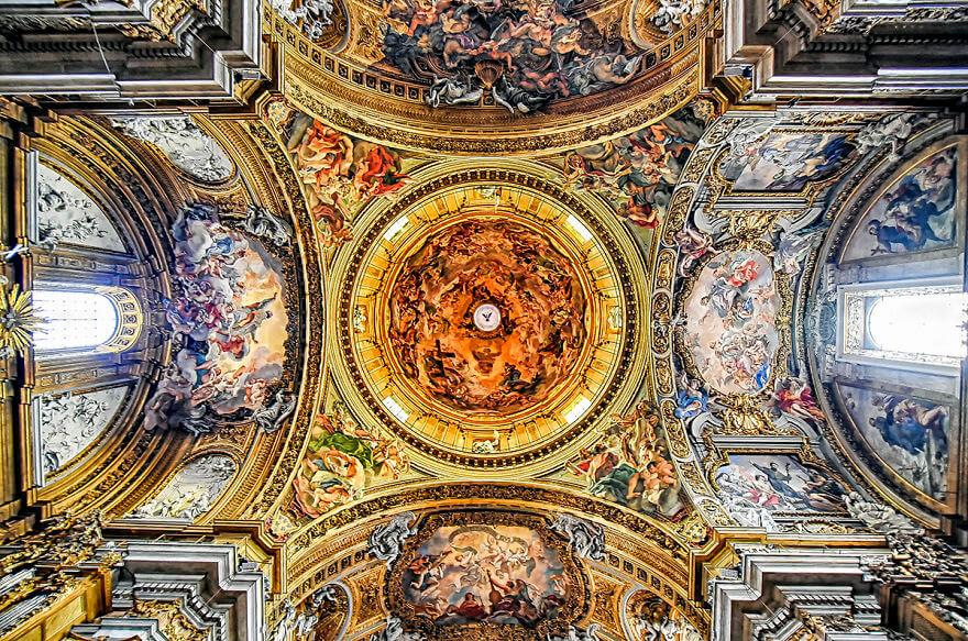 Красота потолков церквей Рима. Фото № 8