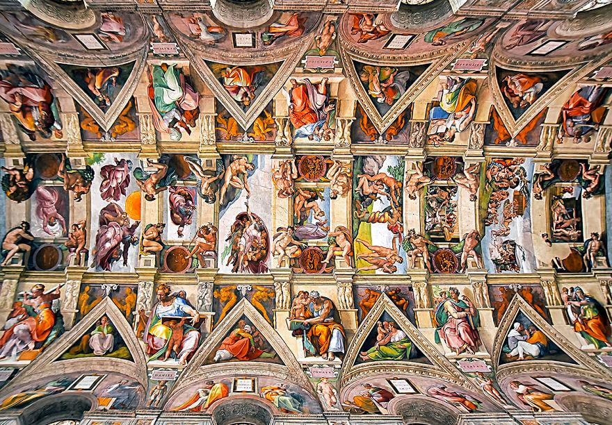Красота потолков церквей Рима. Фото № 9