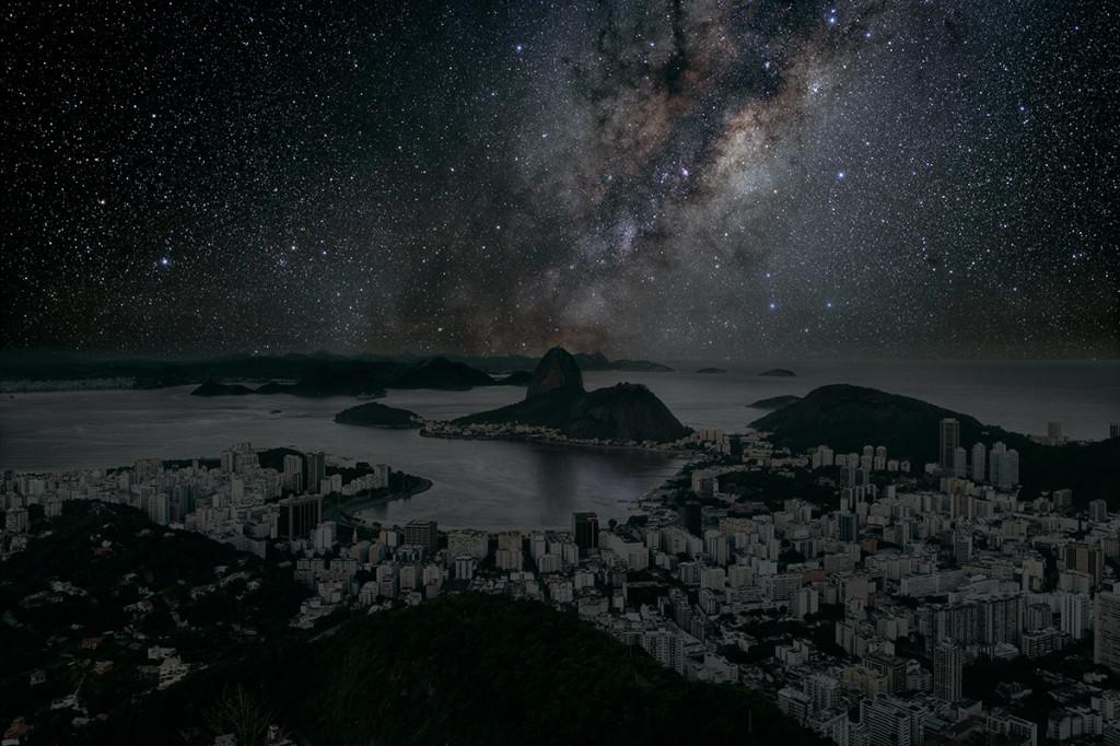 фото ночного города, звезды над городом, звездное небо-4