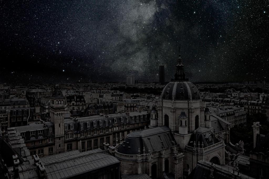фото ночного города, звезды над городом, звездное небо-9