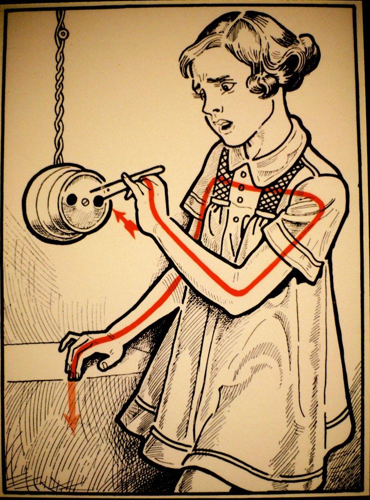 плакат, удар током, иллюстрации, фото № 12