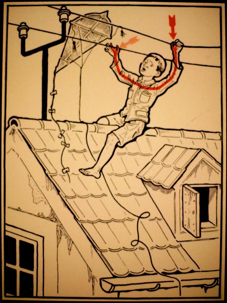 плакат, удар током, иллюстрации, фото № 16