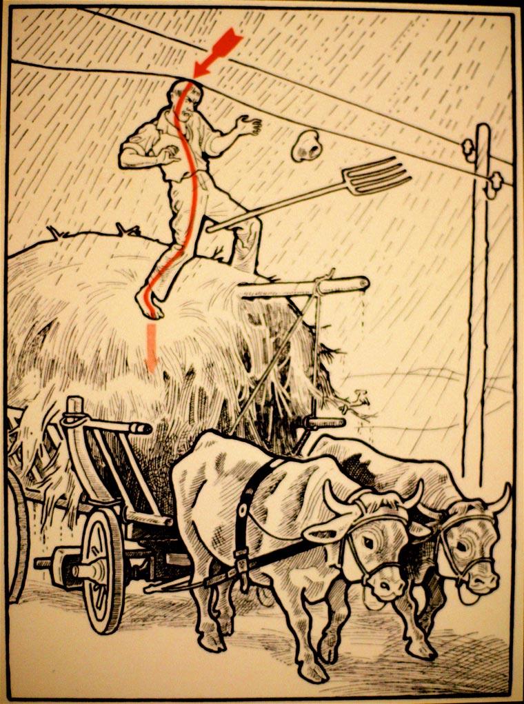 плакат, удар током, иллюстрации, фото № 26