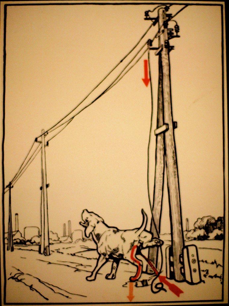 плакат, удар током, иллюстрации, фото № 5