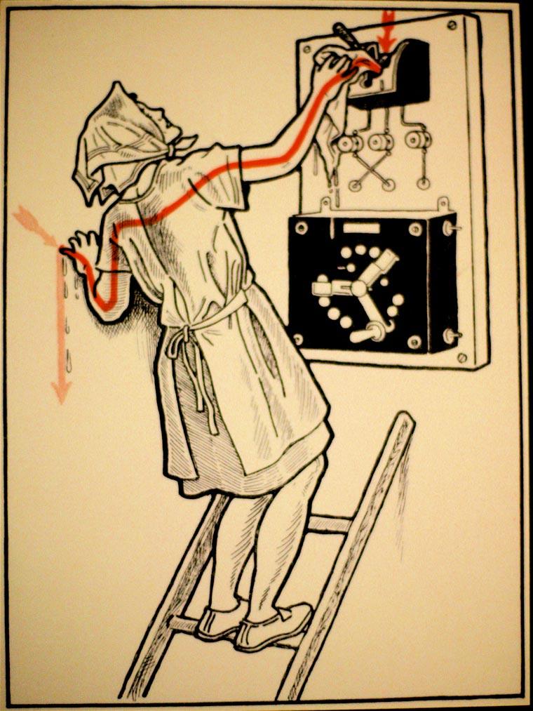 плакат, удар током, иллюстрации, фото № 8