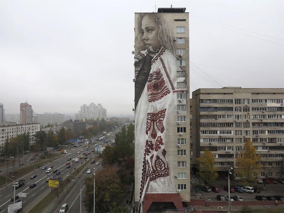 рисунки на домах, графити-1