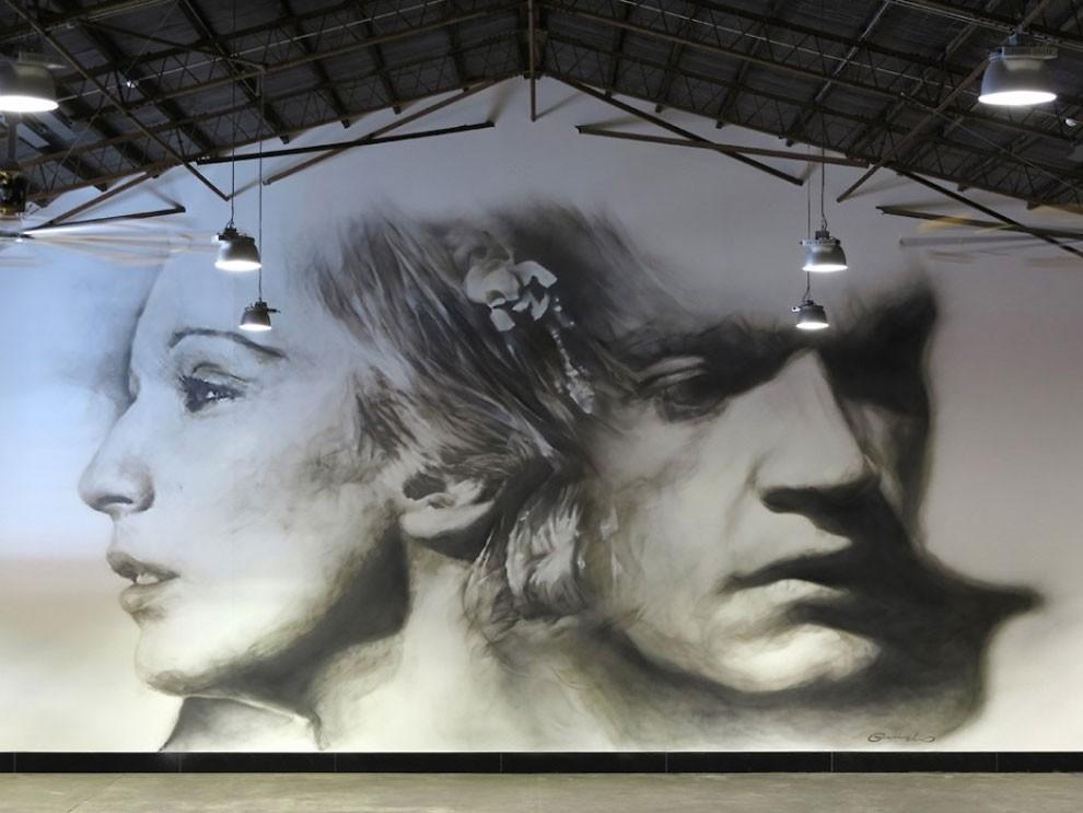 рисунки на домах, графити-10