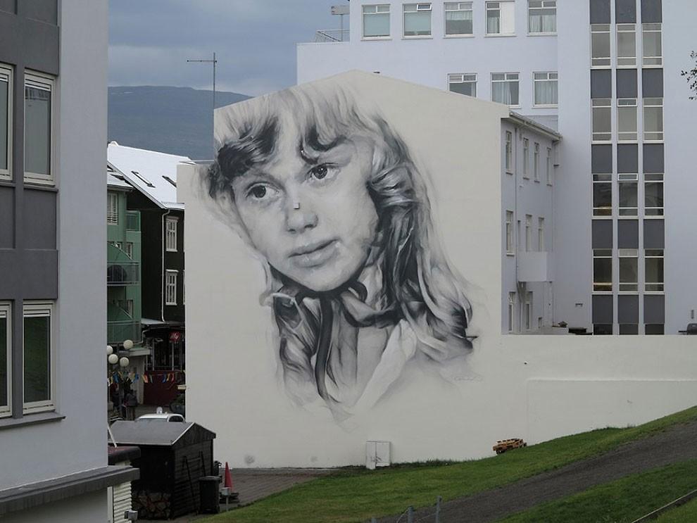 рисунки на домах, графити-16