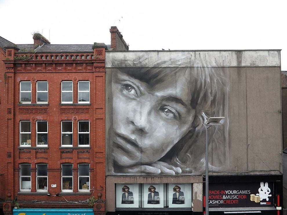 рисунки на домах, графити-17