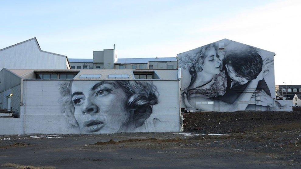 рисунки на домах, графити-18