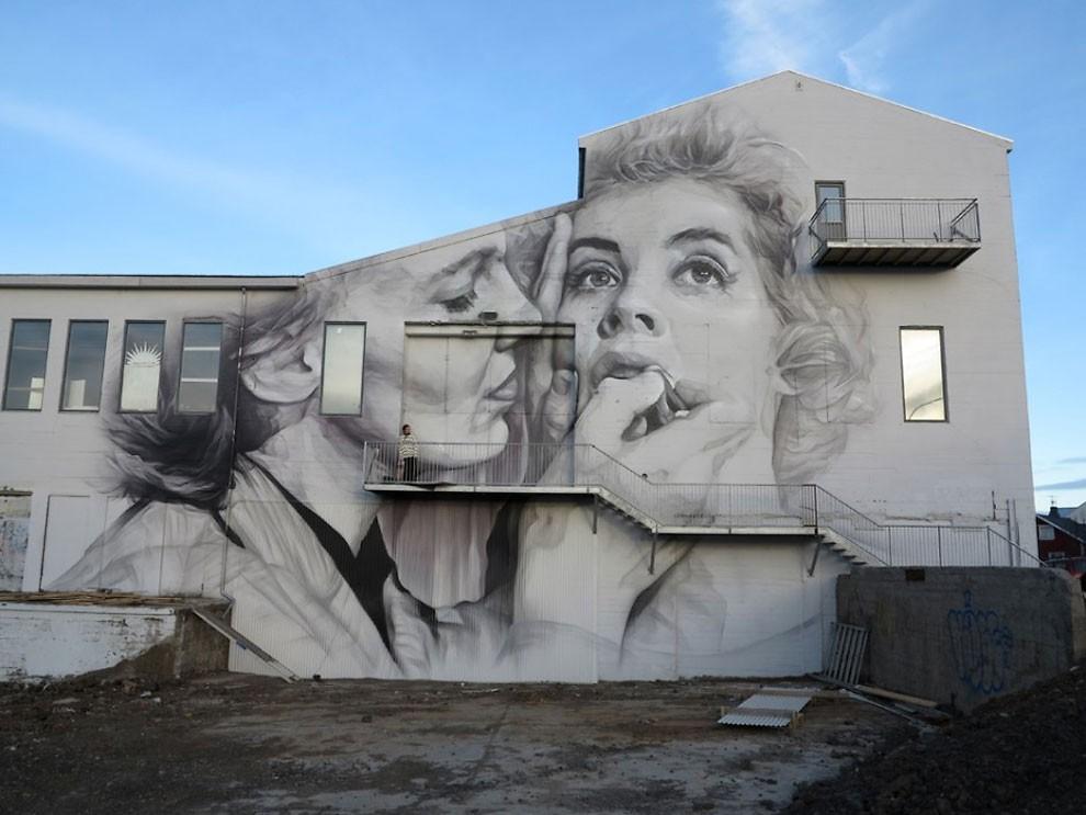 рисунки на домах, графити-19