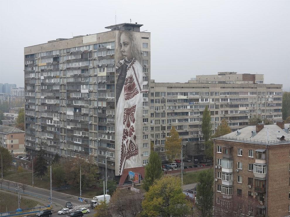 рисунки на домах, графити-2