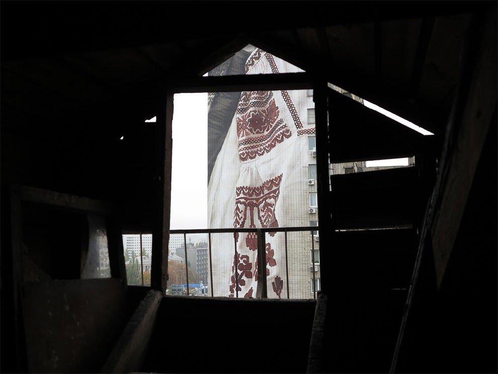 рисунки на домах, графити-3