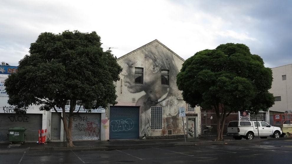 рисунки на домах, графити-4