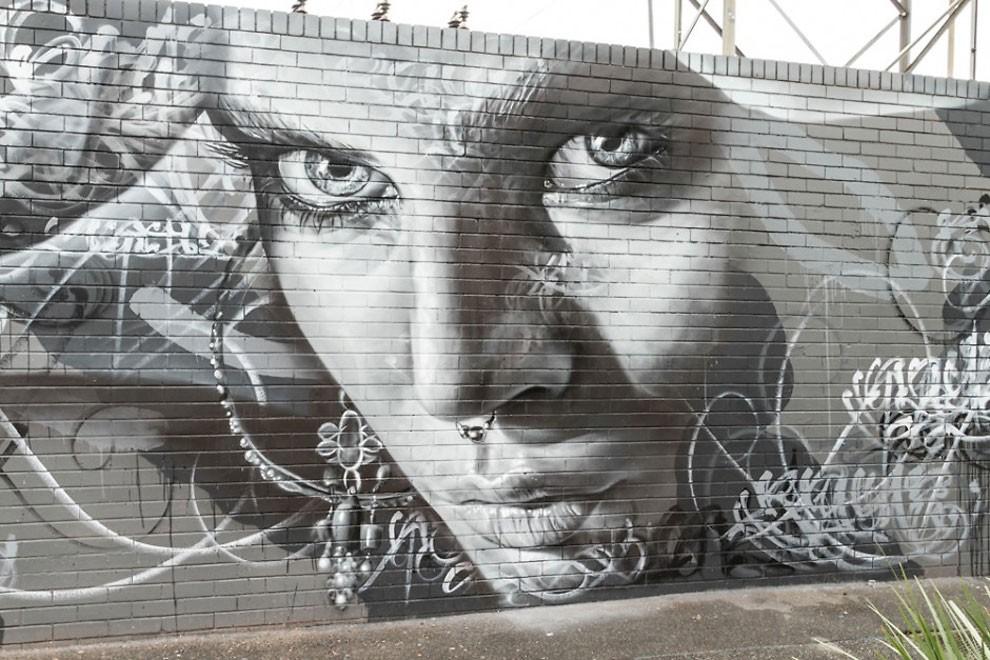 рисунки на домах, графити-5