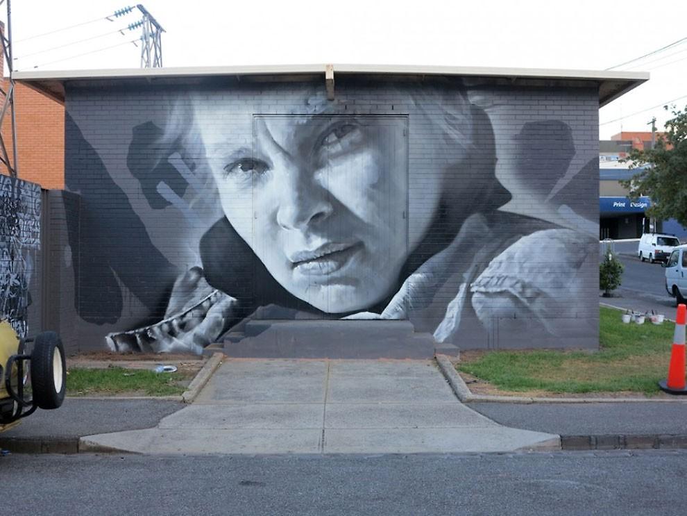 рисунки на домах, графити-6