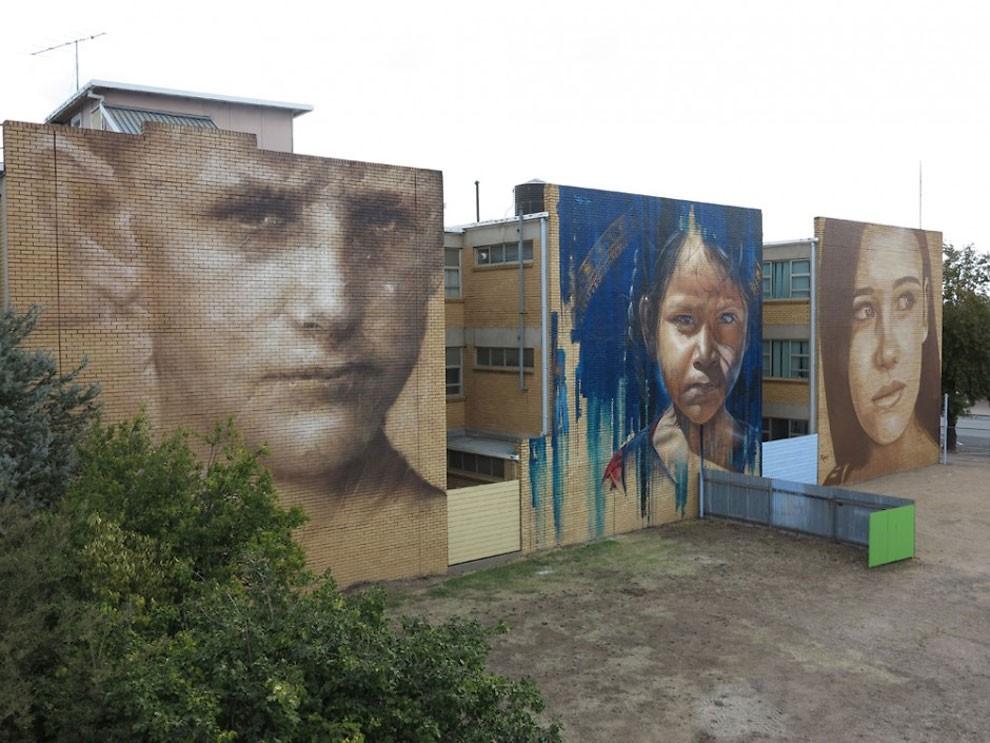 рисунки на домах, графити-7