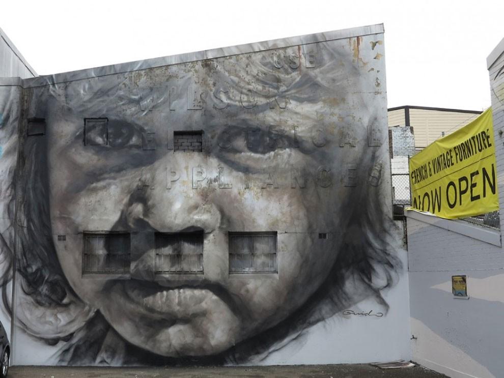 рисунки на домах, графити-9
