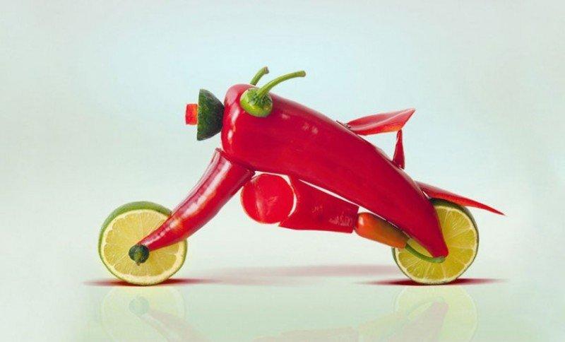 скульптуры из еды и продуктов питания-5