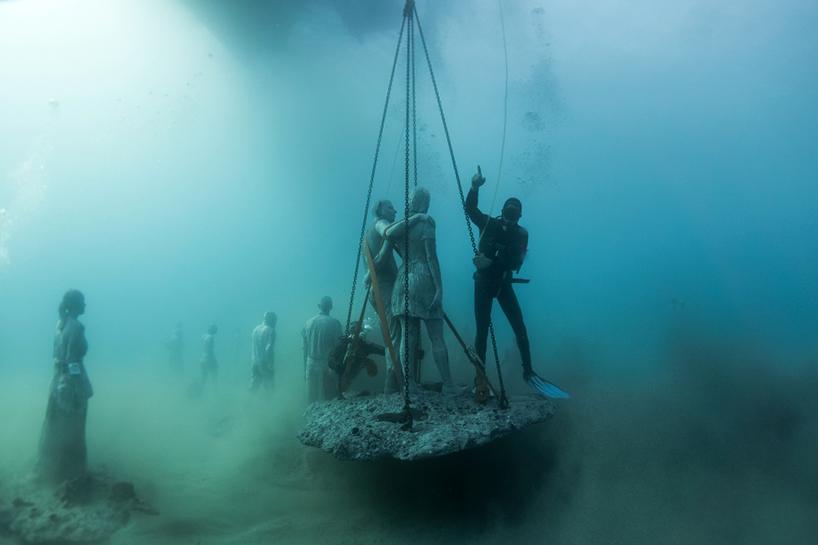 Джейсон Декарис Тейлор, подводный музей Испании, скульптура под водой, фото № 16