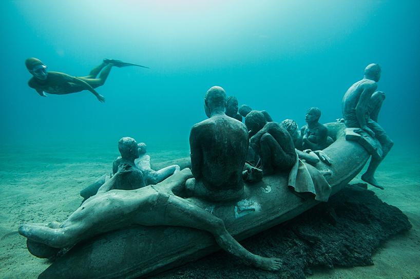 Джейсон Декарис Тейлор, подводный музей Испании, скульптура под водой, фото № 6