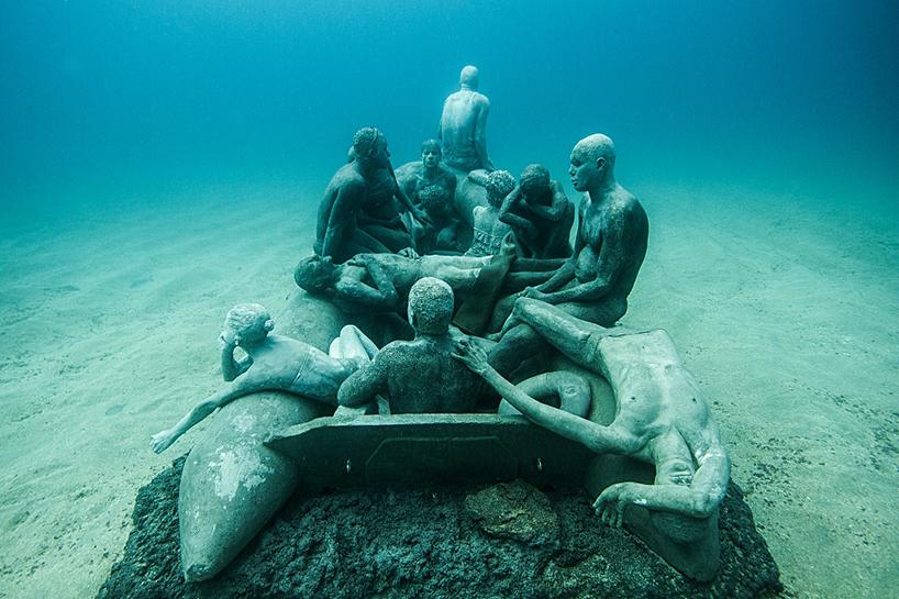 Джейсон Декарис Тейлор, подводный музей Испании, скульптура под водой, фото № 7