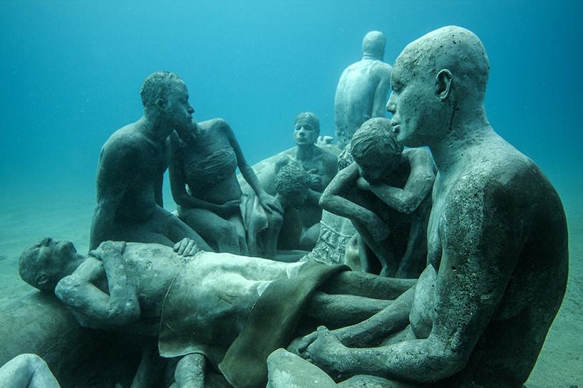 Джейсон Декарис Тейлор, подводный музей Испании, скульптура под водой, фото № 8
