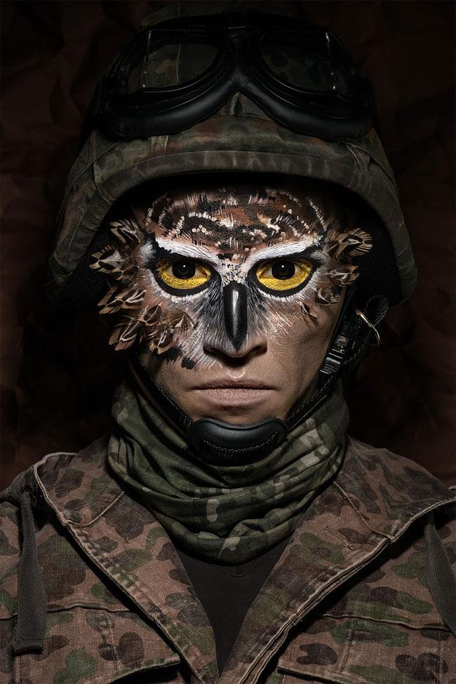анимализм, портрет лица человека, бодиарт на лице, фото № 3