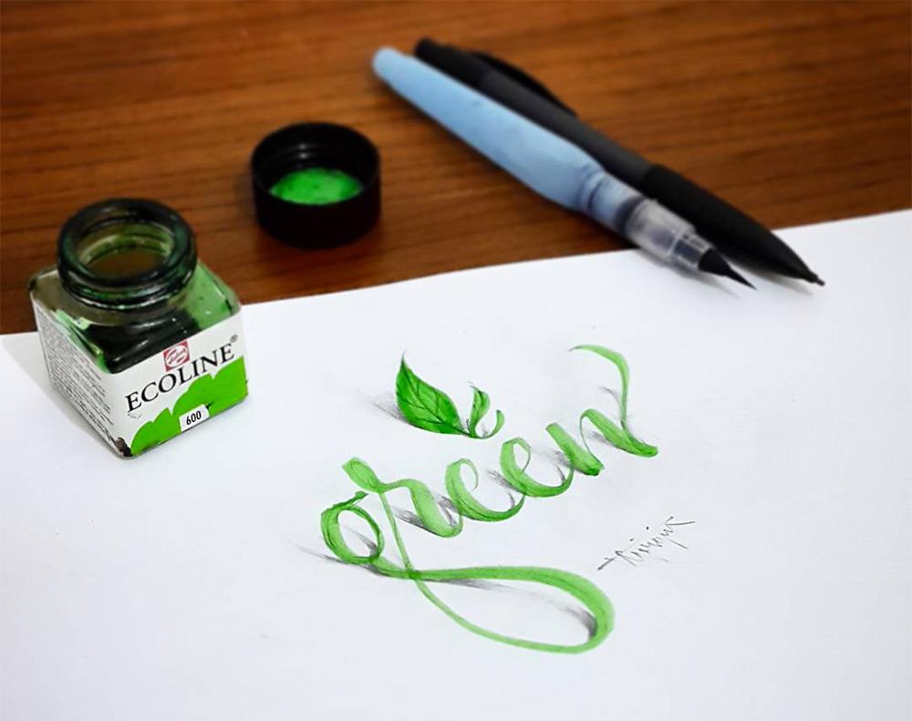 авторские шрифты, каллиграфия, фото № 1