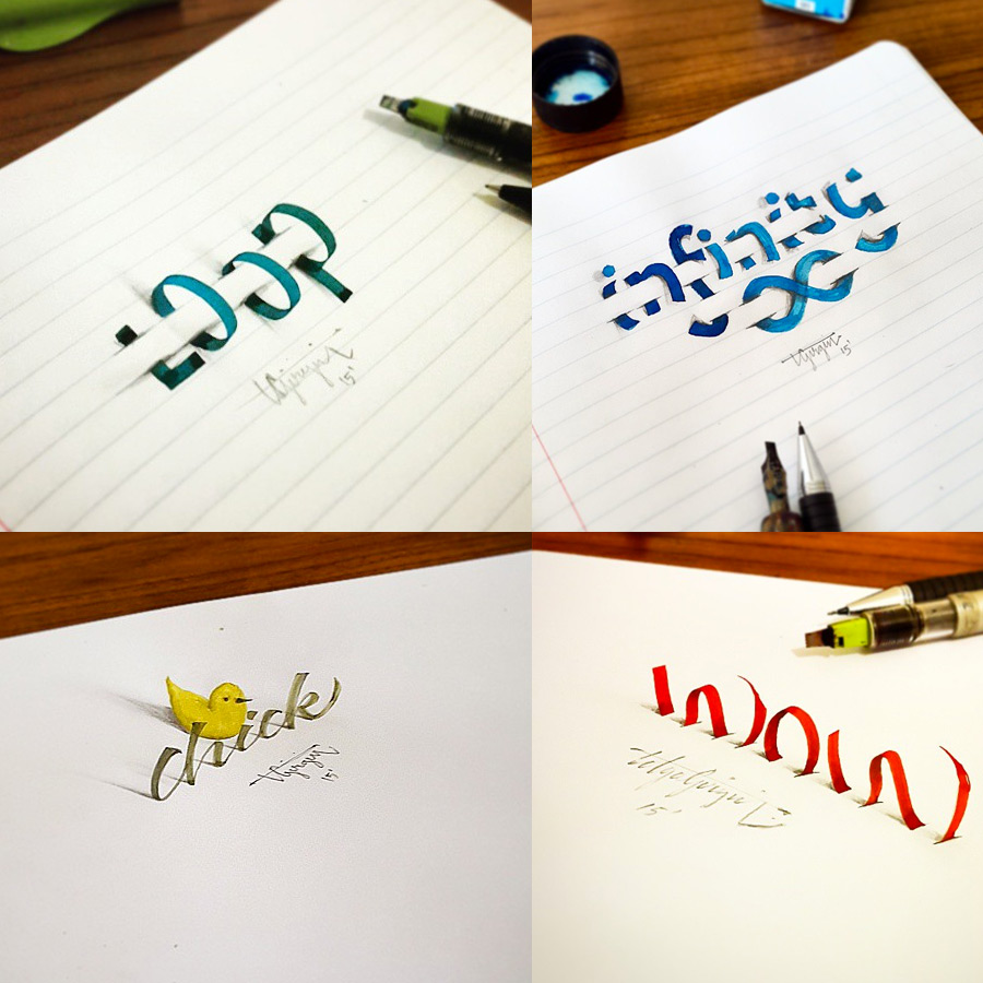 авторские шрифты, каллиграфия, фото № 5
