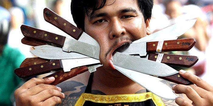 фестиваль на Пхукете, вегетарианский фестиваль, праздники Таиланда, фото № 4