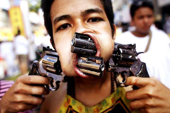 фестиваль на Пхукете, вегетарианский фестиваль, праздники Таиланда, фото № 6
