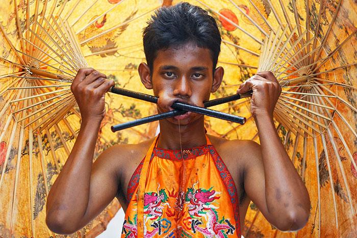 фестиваль на Пхукете, вегетарианский фестиваль, праздники Таиланда, фото № 8
