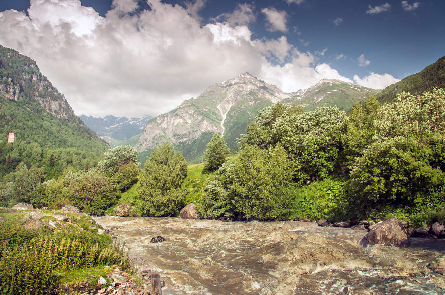 горы Грузии, Сванети, природа Грузии, фото № 9