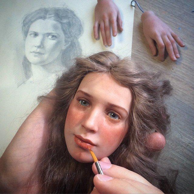 куклы своими руками, изготовление кукол своими руками, куклы сделанные руками фото-17