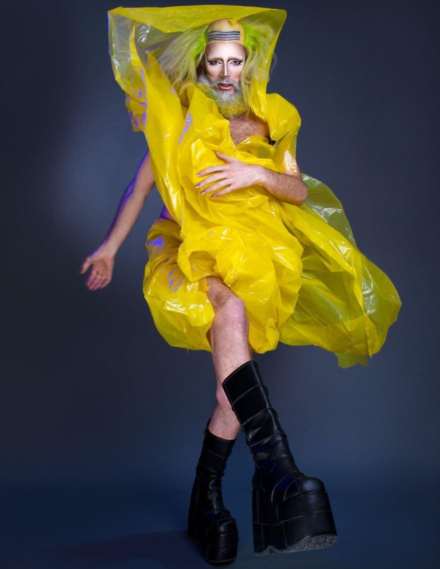 мужское эго, макияж для мужчин, мужчина в женской одежде, мужчины на каблуках, фото № 5