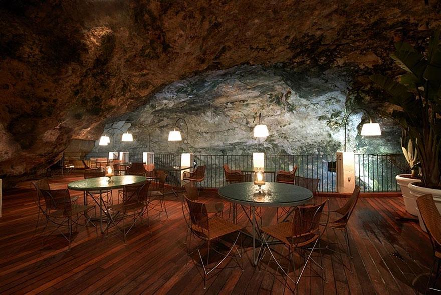 ресторан пещера, лучшие итальянские рестораны, ресторан скала, фото № 1