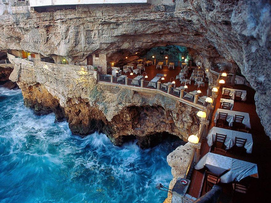 ресторан пещера, лучшие итальянские рестораны, ресторан скала, фото № 10