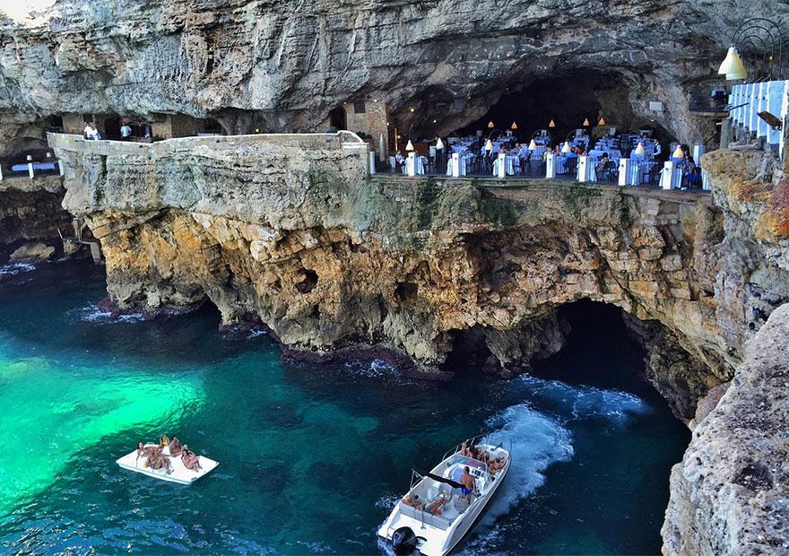 ресторан пещера, лучшие итальянские рестораны, ресторан скала, фото № 3