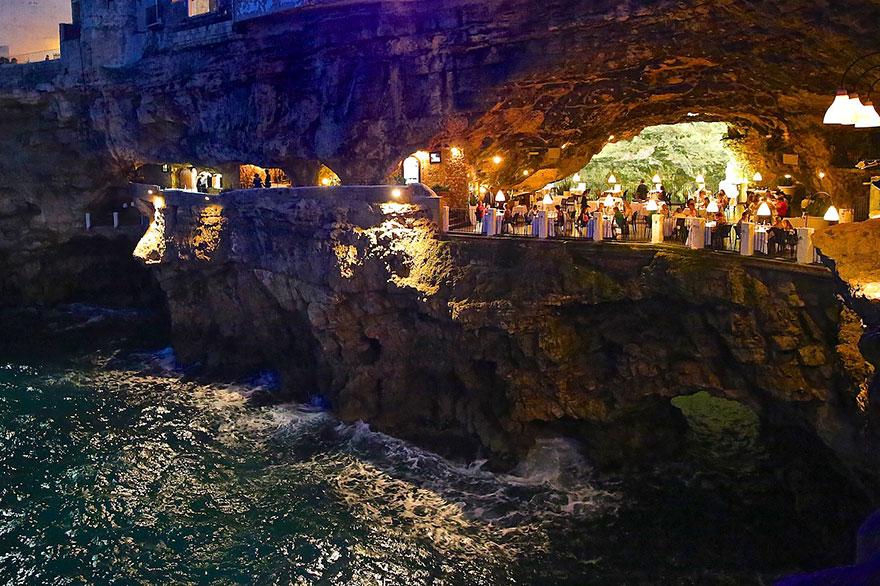 ресторан пещера, лучшие итальянские рестораны, ресторан скала, фото № 6