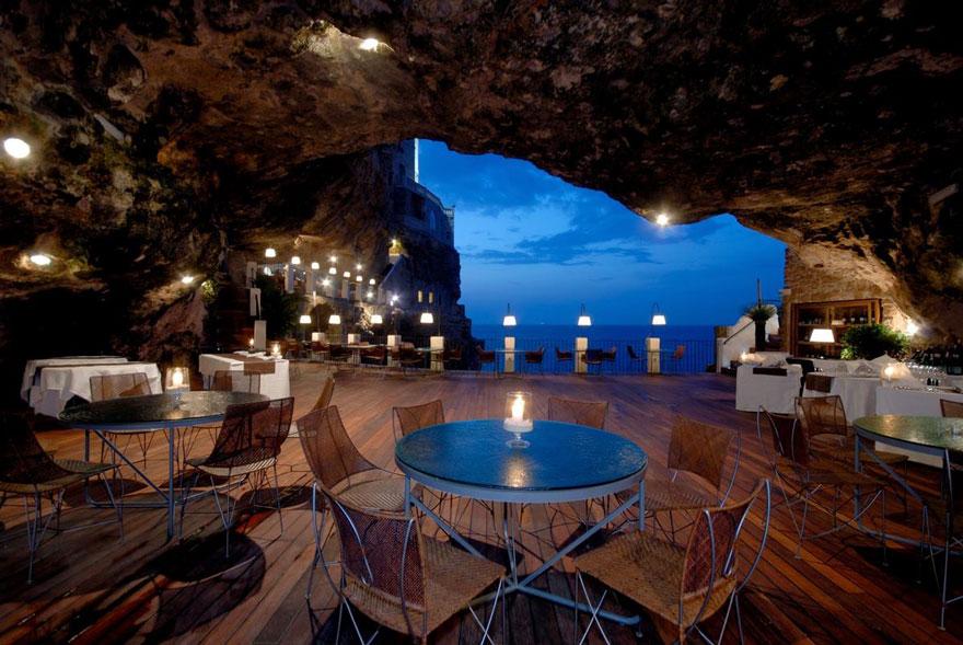 ресторан пещера, лучшие итальянские рестораны, ресторан скала, фото № 8