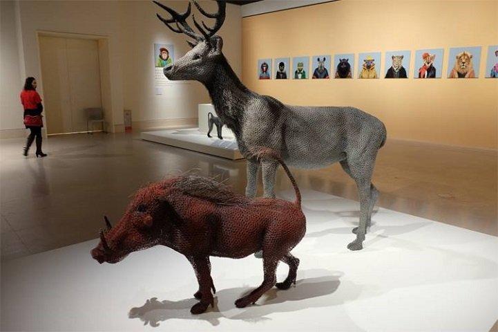 скульптуры животных, школа современного искусства, выставка современного искусства-12