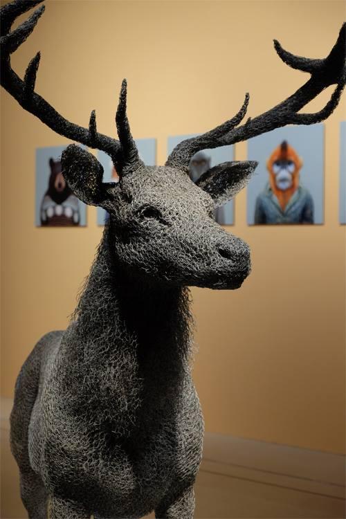 скульптуры животных, школа современного искусства, выставка современного искусства-13