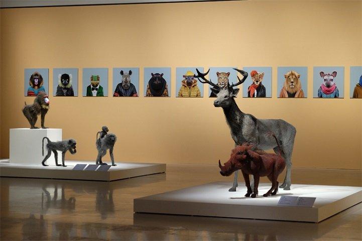 скульптуры животных, школа современного искусства, выставка современного искусства-14