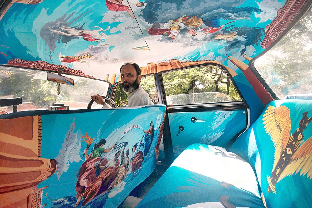 транспорт Индии, такси Индии, тюнинг такси, окраска салона автомобиля, дизайн салона автомобиля-1
