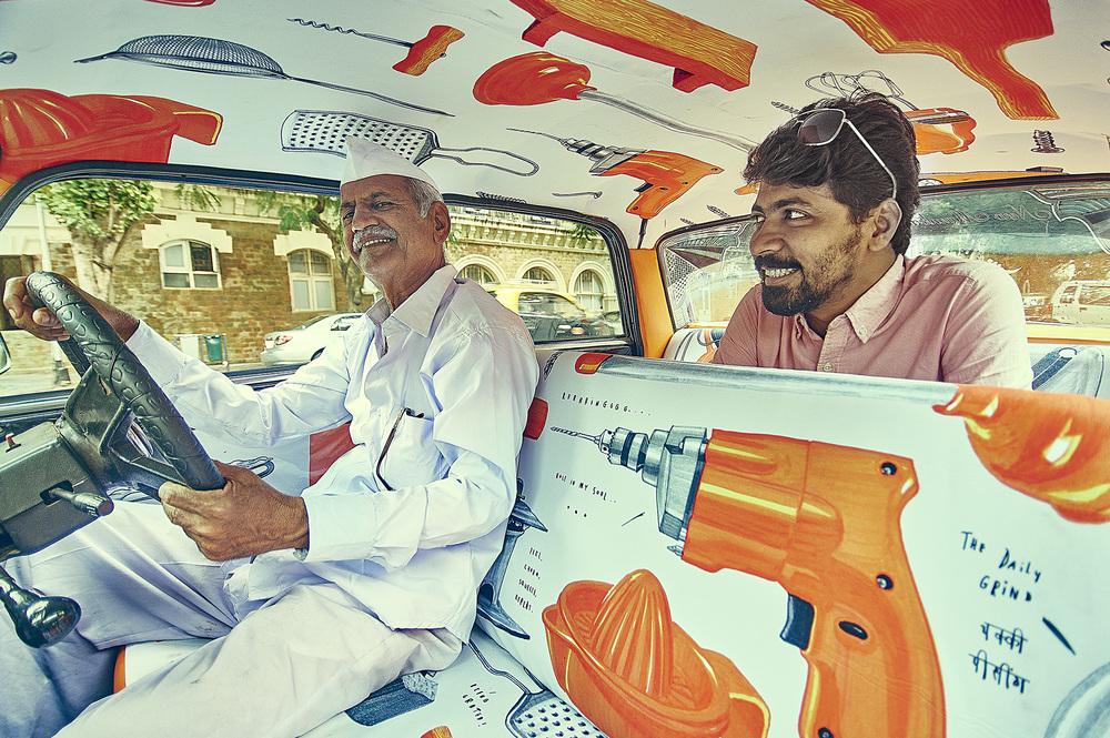 транспорт Индии, такси Индии, тюнинг такси, окраска салона автомобиля, дизайн салона автомобиля-10